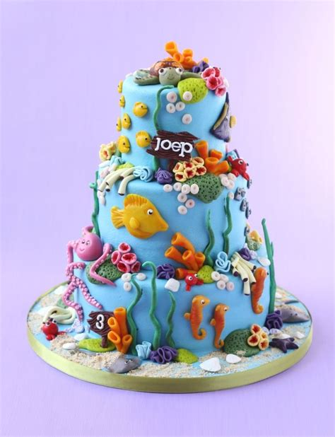 underwater cake childrens birthday cakes party ideas