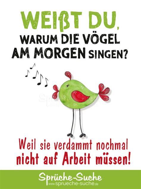 Lustiger Spruch  Warum Die Vögel Am Morgen Singen