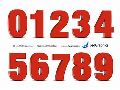 Numbers 3d Number Clipart Template Psd Clip