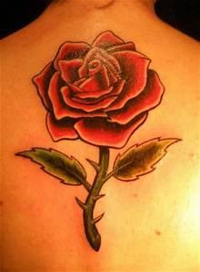 Rose En Tatouage : tatouage rose rouge tatouage rose sur ~ Farleysfitness.com Idées de Décoration