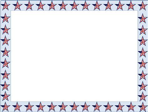 cornici colorate da stare american flag borders and frames clipart