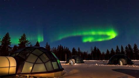 northern lights igloo kakslauttanen arctic resort in lapland