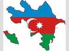 Azerbaijan Flag Map Azerbaijan • mappery