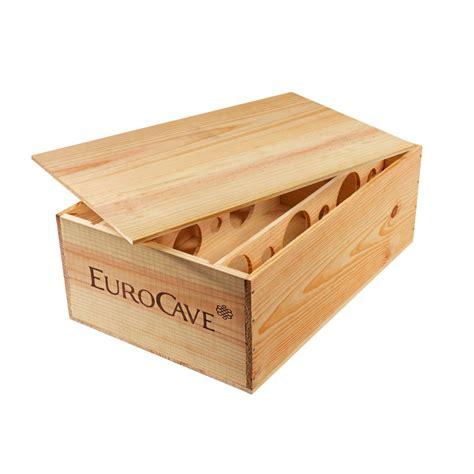 rangement pour bouteille de vin caisse en bois pour le rangement de 12 bouteilles de vin eurocave