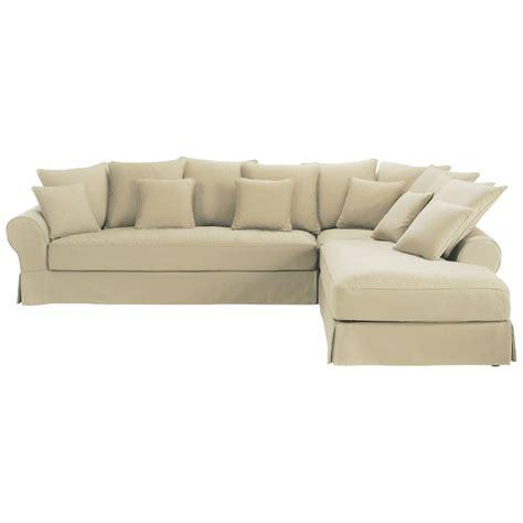 canape 4 place droit canapé d 39 angle droit 6 places en coton mastic bastide