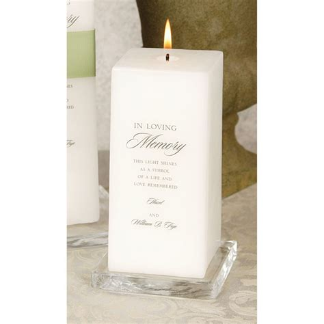 memorial candle invitations  dawn