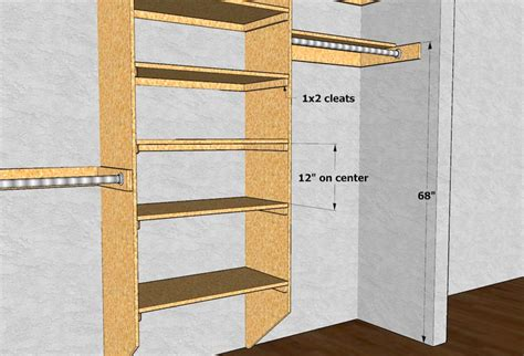wooden closet rods and shelves ideas advices for