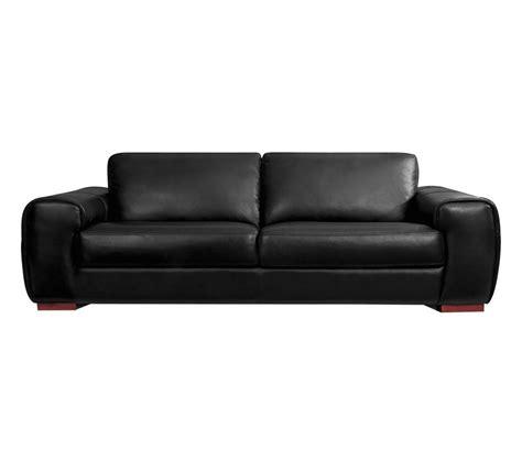 canape  places cuir noir londres promotion carrefour