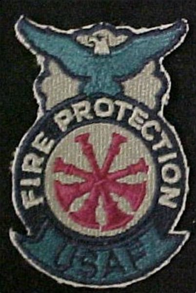 air force deputy fire chief badge sew   abu
