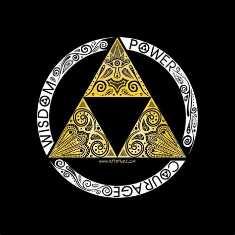 zelda triforce circle tshirt print design  art