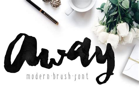modern brush lettered fonts youll love