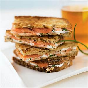 Smoked Salmon and Cream Cheese Breakwiches - sandwich ...