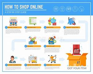 Online Shopping Infographic Guide  Concept Vector