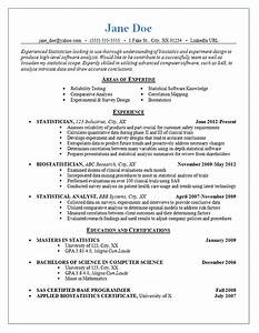Best Objective Statement For Resume Statistician Resume Example Statistics Experimental Design