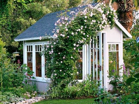 Cottage Style Backyards by Garden Cottages And Small Sheds For Your Outdoor Space