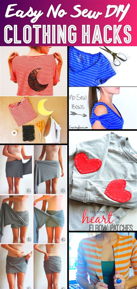 37 Truly Easy No Sew Diy Clothing Hacks Love The