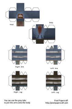 papercraft female jesse minecraft story mode  skin