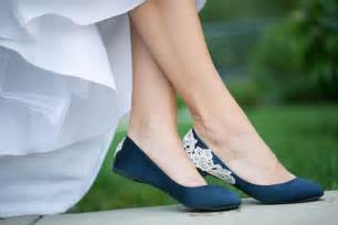 blue shoes for wedding flat blue wedding shoes with ivory lace ipunya