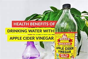 the health benefits of water with apple cider