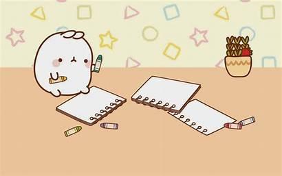 Desktop Molang Kawaii Wallpapers Pusheen Bunny Draw