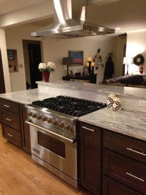 kitchen island with cooktop and seating denver kitchen remodel kitchens denver