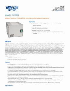 Isolator Series Ul60601-1 Manuals