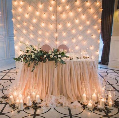 15 Romantic Wedding Sweetheart Table Decoration Ideas