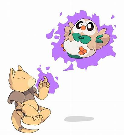 Abra Pokemon Rowlet Sad Draw Could Ago