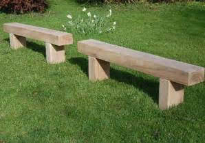 Backless Garden Benches by Custom Built Solid Wooden Timber Tables Outdoor Garden