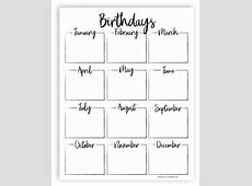 Free Printable! Keep track of all your friends and family
