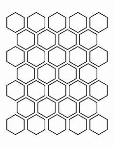 Printable 1 5 Inch Hexagon Template