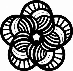 Black And White Ornamental Flower Clip Art at Clker.com ...