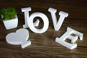 moza 7x8 cm standing english love letters decorative With decorative standing letters