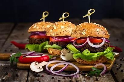 Burger 4k Gourmet Harvest Onion Hamburgers Appetizing