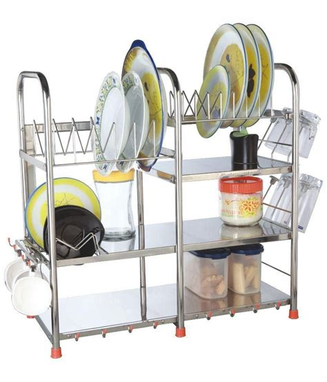 kitchen dishes organizer buy amol stainless steel utensils rack at low price 1555