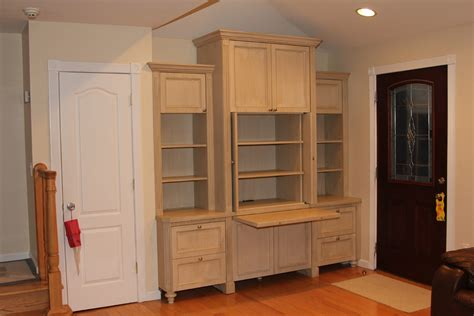 built  wall unit home office