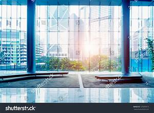 Glass Wall In The Office Building Stock Photo 129283913 ...