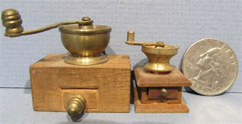 2 Very Old Antique Miniature Coffee Grinders * Doll House Honey Oak Coffee Table How Many Bags In A Container Iron Empty Organic Zaryna Halo With Drawers And Shelf Lyons No 2