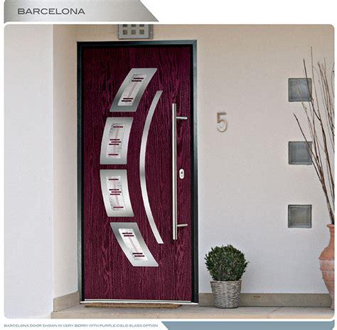 Modern Entry Door- Barcelona design fiberglass door with 4