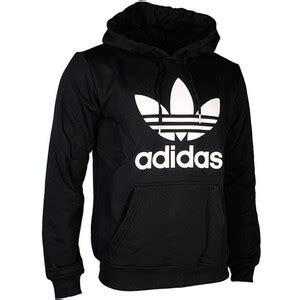 adidas sweater black and white adidas originals trefoil hoody black white polyvore
