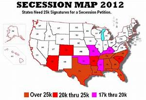 Secession Map for the US 2012 - Stormfront