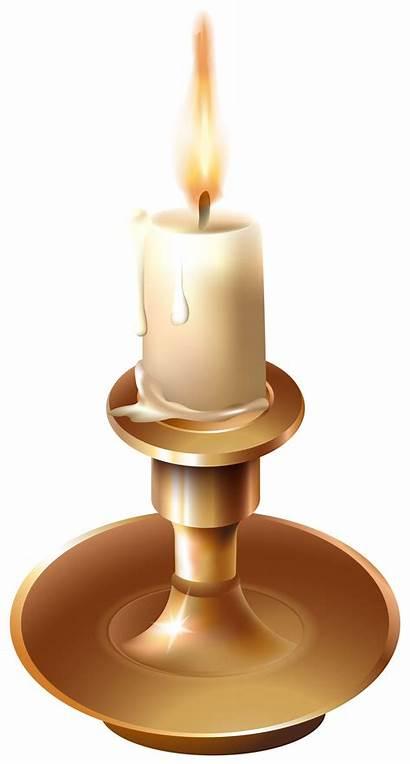 Candle Clip Clipart Candlestick Vinatge Stick Transparent