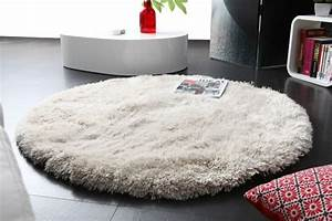 osez le tapis rond pour un interieur tres a la mode With tapis blanc doux