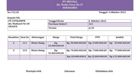 Surat Permintaan Pembelian by Akuntansi Puna Na Mevi Contoh Faktur Pembelian