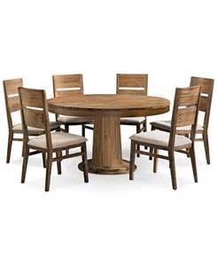chagne 7 piece round dining room furniture set