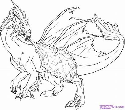 Dragon Fire Breathing Draw Step Dragoart Steps