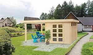 Abri De Jardin 5m2 : abri de jardin en sapin naturel avec terrasse latrale couverte ~ Edinachiropracticcenter.com Idées de Décoration