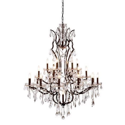 Elegant Lighting Elena 25 Light Rustic Intent Royal Cut