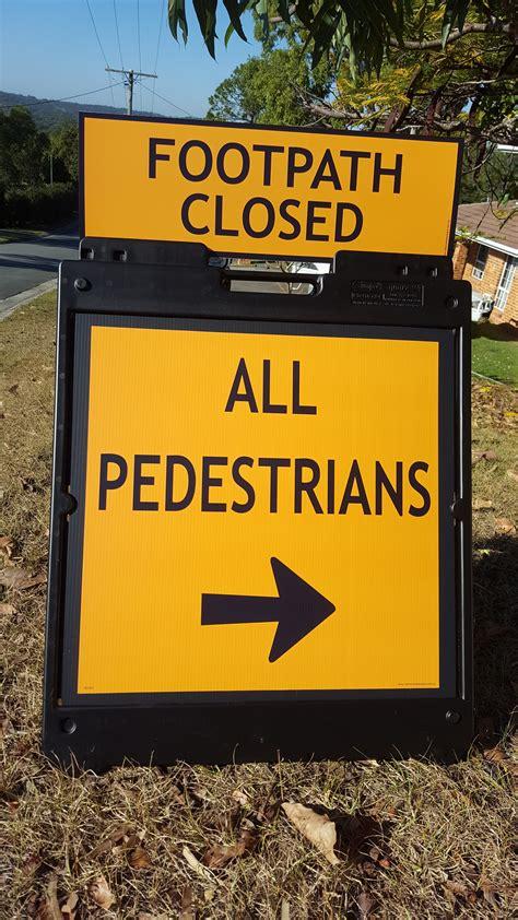 Temporary Pedestrian Sign - Temporary Roadworks signs ...