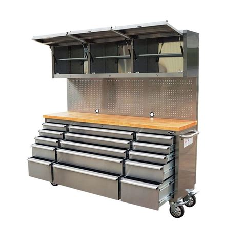garage tool bench 1 8m garage workbench cabinet large tool chest stainless steel